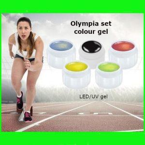 Olympia set met 5 verschillende kleur gels voor led- en uv/lampen.