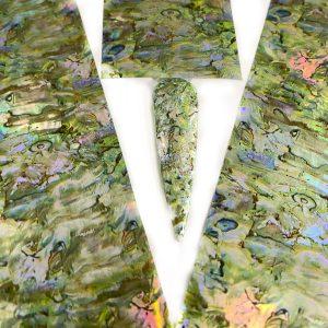 Transfer Folie pearly green is een trendy folie met parelmoor uitstraling.
