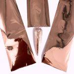 Transfer folie roze goud voor een trendy nageldecoratie.