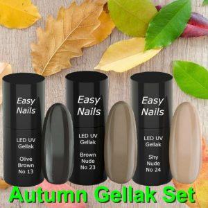 Led UV gellak Autumn set met 3 trendy gellak kleuren voor het najaar.