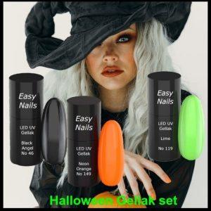 Led-UV gellak Halloween set om je nagels met Halloween de passende kleur te geven.